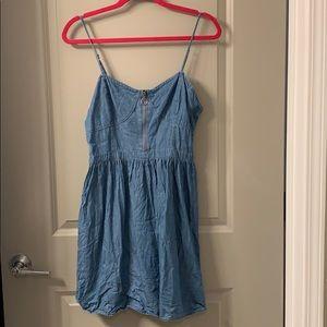 Jean colored spaghetti strap dress